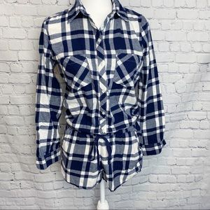 Aerie long sleeve button front pajama romper